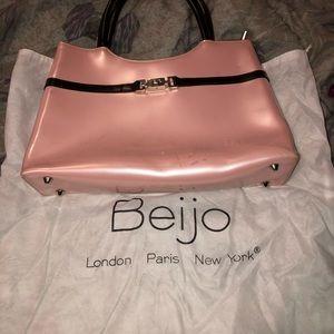Beijo Pink & Brown Purse